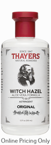 Thayers Original Witch Hazel with Aloe Astringent 355ml