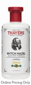 Thayers Lemon Witch Hazel with Aloe Astringent 355ml