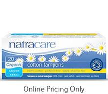 Natra Care Organic Tampons Super 20pcs