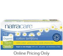 Natra Care Organic Tampons Regular with Applicator 16pcs