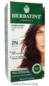 Herbatint Permanent Herbal Haircolour Gel With Aloe Vera 2N 135ml