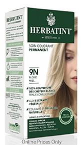 Herbatint Permanent Herbal Haircolour Gel With Aloe Vera 9N 135ml