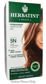 Herbatint Permanent Herbal Haircolour Gel With Aloe Vera 5N 135ml