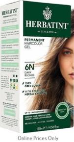 Herbatint Permanent Herbal Haircolour Gel With Aloe Vera 6N 135ml