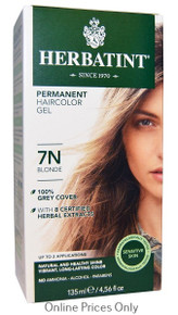 Herbatint Permanent Herbal Haircolour Gel With Aloe Vera 7N 135ml