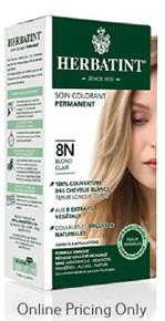 Herbatint Permanent Herbal Haircolour Gel With Aloe Vera 8N 135ml