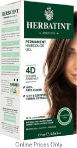 Herbatint Permanent Herbal Haircolour Gel With Aloe Vera 4D 135ml