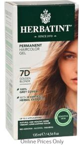 Herbatint Permanent Herbal Haircolour Gel With Aloe Vera 7D 135ml