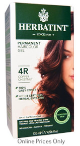 Herbatint Permanent Herbal Haircolour Gel With Aloe Vera 4R 135ml