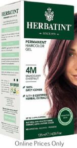 Herbatint Permanent Herbal Haircolour Gel With Aloe Vera 4M 135ml