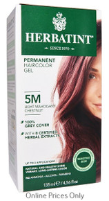 Herbatint Permanent Herbal Haircolour Gel With Aloe Vera 5M 135ml