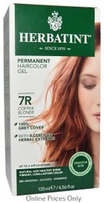Herbatint Permanent Herbal Haircolour Gel With Aloe Vera 7R 135ml