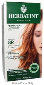 Herbatint Permanent Herbal Haircolour Gel With Aloe Vera 8R 135ml