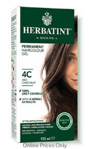 Herbatint Permanent Herbal Haircolour Gel With Aloe Vera 4C 135ml