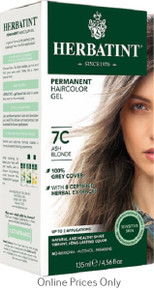 Herbatint Permanent Herbal Haircolour Gel With Aloe Vera 7C 135ml