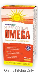 Renew Life Norwegian Gold Super Critical Omega 60fishgels
