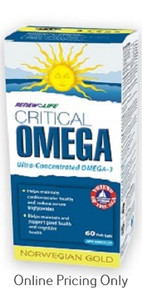 Renew Life Norwegian Gold Critical Omega 60fishgels