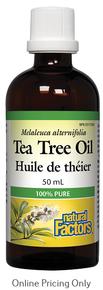 NATURAL FACTORS TEA TREE OIL 50ml