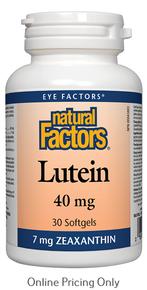 Natural Factors Lutein 40mg 30sg