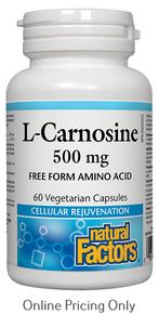 Natural Factors L-Carnosine 500mg 60vcaps
