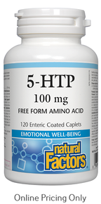 Natural Factors 5-HTP 100mg 120caps