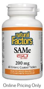 Natural Factors SAMe ISO 200mg 60tabs