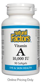 Natural Factors Vitamin A 10,000IU 90sg