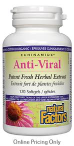 NATURAL FACTORS ECHINAMIDE ANTI-VIRAL POTENT FRESH HERBAL EXTRACT 120sg