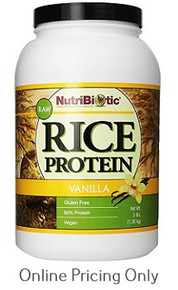 Nutribiotic Rice Protein Vanilla 1.36kg