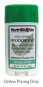 Nutribiotic Deodorant Unscented 75g