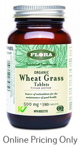 Flora Wheat Grass 500mg 180tabs