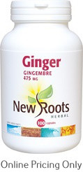 NEW ROOTS GINGER 475mg 100caps