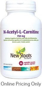 New Roots L-Carnitine (N-Acetyl-L-Carnitine Hydrochloride) 750mg 90caps