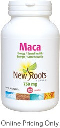 New Roots Maca 750mg 120caps