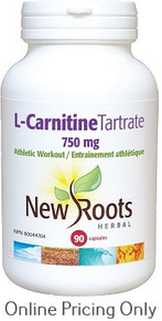 New Roots L-Carnitine Tartrate 750mg 90caps