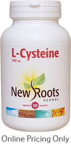 New Roots L-Cysteine 500mg 50caps