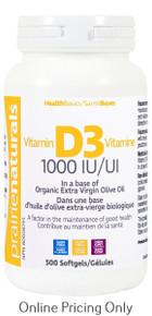 Prairie Naturals Vitamin D 1000IU 500sg