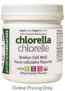 Prairie Naturals  Organic Chlorella Powder 200g