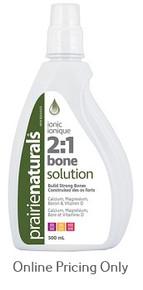 Prairie Naturals Ionic Liquid Bone Solution 2:1 500ml