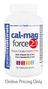 Prairie Naturals Cal Mag Force 2:1 180tabs