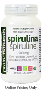 Prairie Naturals Organic Spirulina 500mg 360tab