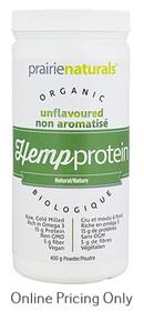 Prairie Naturals Organic Hemp Protein Natural 400g