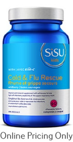 Sisu Cold and Flu Rescue Kids 60tabs