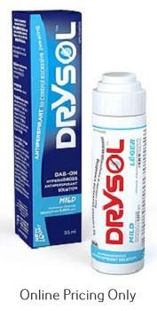 Seaford Drysol Mild Dab-On Antiperspirant 35ml