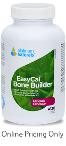 Platinum Naturals EasyCal Bone Builder 120sg