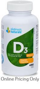Platinum Naturals Vitamin D3 1000 IU 180sg