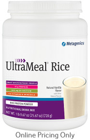 METAGENICS ULTRAMEAL RICE VANILLA 728g