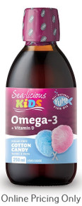 Sea-licious Kids Omega 3 Cotton Candy 250ml