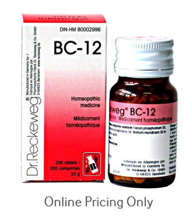 Dr Reckeweg BC-12 200tabs at Finlandia Health Store, Canada