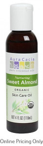 Aura Cacia Organic Sweet Almond Oil 118ml